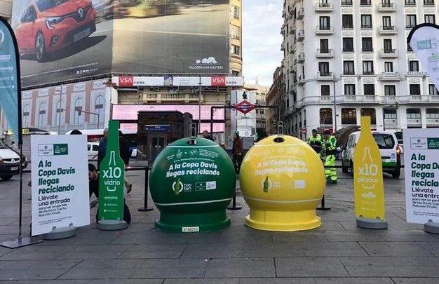 Entradas gratis para la Copa Davis por reciclar 10 botellas