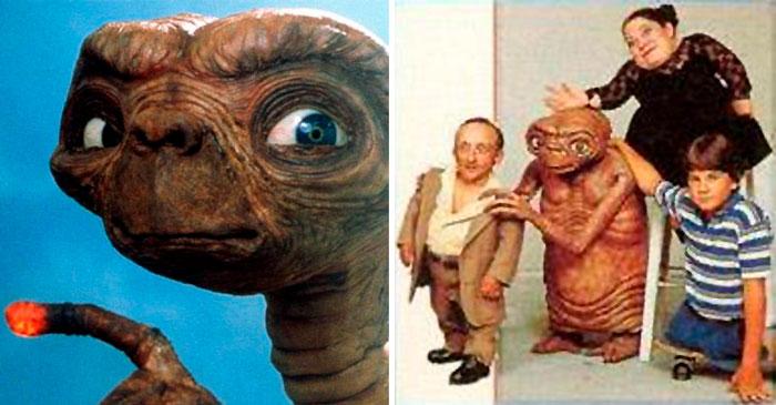 ¿Sabías que a E.T. lo interpretaron dos enanos y un niño sin piernas?