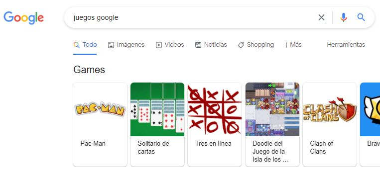 Juegos escondidos de Google